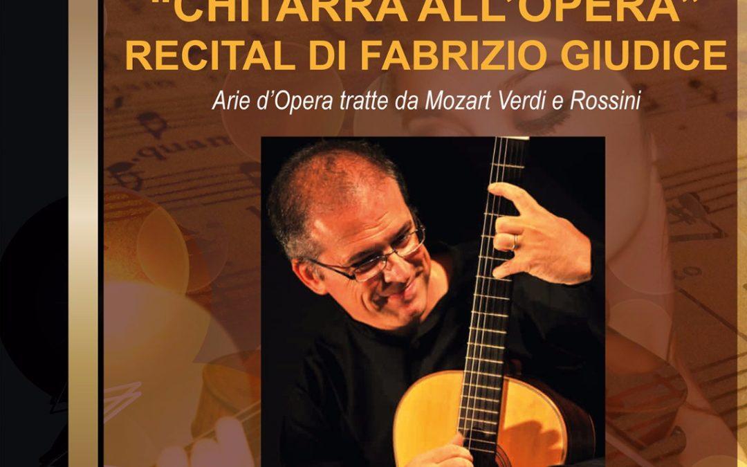 """5 gennaio ore 16.30 concerto """"Chitarra all'Opera"""""""